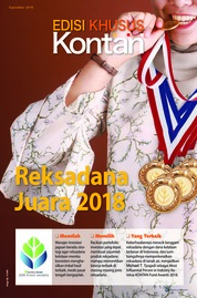KONTAN Edisi Khusus Magazine Cover September 2018