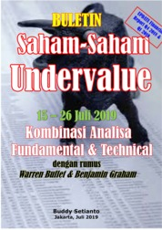 Cover Buletin Saham-Saham Undervalue 15-26 JUL 2019 - Kombinasi Fundamental & Technical Analysis oleh Buddy Setianto