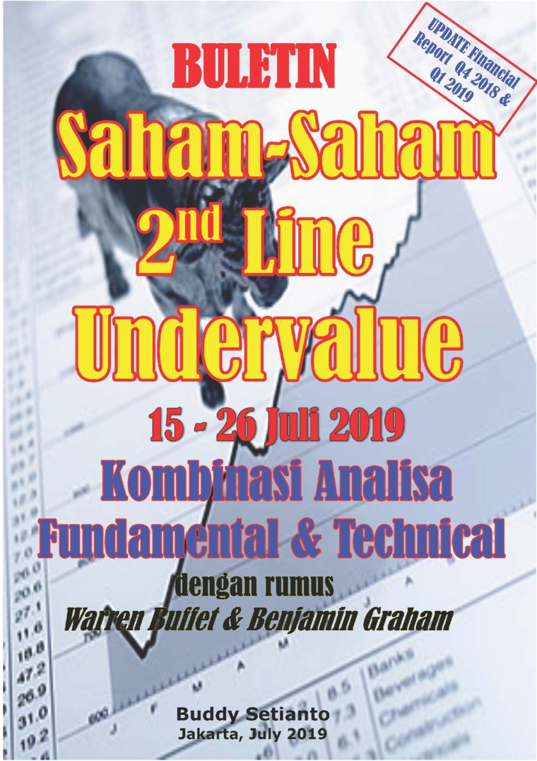 Buku Digital Buletin Saham-Saham 2nd Line Undervalue 15-26 JUL 2019 - Kombinasi Fundamental & Technical Analysis oleh Buddy Setianto