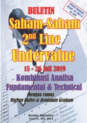 Cover Buletin Saham-Saham 2nd Line Undervalue 15-26 JUL 2019 - Kombinasi Fundamental & Technical Analysis oleh Buddy Setianto