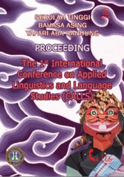 Cover The 1st International Conference on Applied Linguistics and Language Studies (CALLS) oleh Achmad Dian