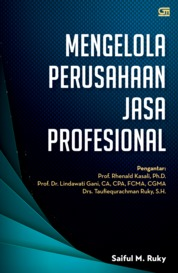 Cover Mengelola Perusahaan Jasa Profesional oleh Syaiful M Ruky