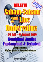 Buletin Saham-Saham 2nd Line Undervalue 29-09 AUG 2019 - Kombinasi Fundamental & Technical Analysis by Buddy Setianto Cover