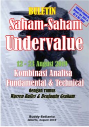 Cover Buletin Saham-Saham Undervalue 12-23 AUG 2019 - Kombinasi Fundamental & Technical Analysis oleh Buddy Setianto