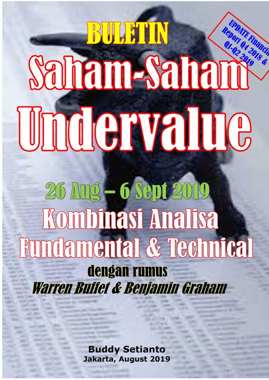 Buku Digital Buletin Saham-Saham Undervalue 26-06 SEP 2019 - Kombinasi Fundamental & Technical Analysis oleh Buddy Setianto