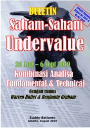 Buletin Saham-Saham Undervalue 26-06 SEP 2019 - Kombinasi Fundamental & Technical Analysis by Buddy Setianto Cover