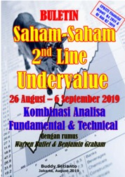 Cover Buletin Saham-Saham 2nd Line Undervalue 26-06 SEP 2019 - Kombinasi Fundamental & Technical Analysis oleh Buddy Setianto