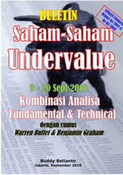Cover Buletin Saham-Saham Undervalue 09-20 SEP 2019 - Kombinasi Fundamental & Technical Analysis oleh Buddy Setianto
