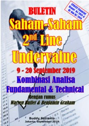 Cover Buletin Saham-Saham 2nd Line Undervalue 09-20 SEP 2019 - Kombinasi Fundamental & Technical Analysis oleh Buddy Setianto