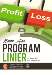 Buku Ajar Program Linier by Dra. Rahmi, M.Si & Mulia Suryani, M.Pd Cover