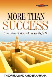 More Than Success, Cara Meraih Kesuksesan Sejati by Theophilus Richard Barahama Cover