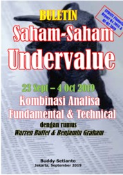 Cover Buletin Saham-Saham Undervalue 23-04 OCT 2019 - Kombinasi Fundamental & Technical Analysis oleh Buddy Setianto