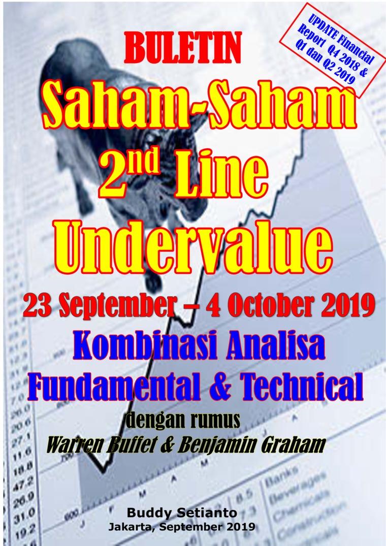 Buku Digital Buletin Saham-Saham 2nd Line Undervalue 23-04 OCT 2019 - Kombinasi Fundamental & Technical Analysis oleh Buddy Setianto