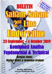 Cover Buletin Saham-Saham 2nd Line Undervalue 23-04 OCT 2019 - Kombinasi Fundamental & Technical Analysis oleh Buddy Setianto