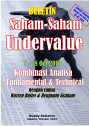 Cover Buletin Saham-Saham Undervalue 07-18 OCT 2019 - Kombinasi Fundamental & Technical Analysis oleh Buddy Setianto