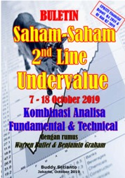 Cover Buletin Saham-Saham 2nd Line Undervalue 07-18 OCT 2019 - Kombinasi Fundamental & Technical Analysis oleh Buddy Setianto