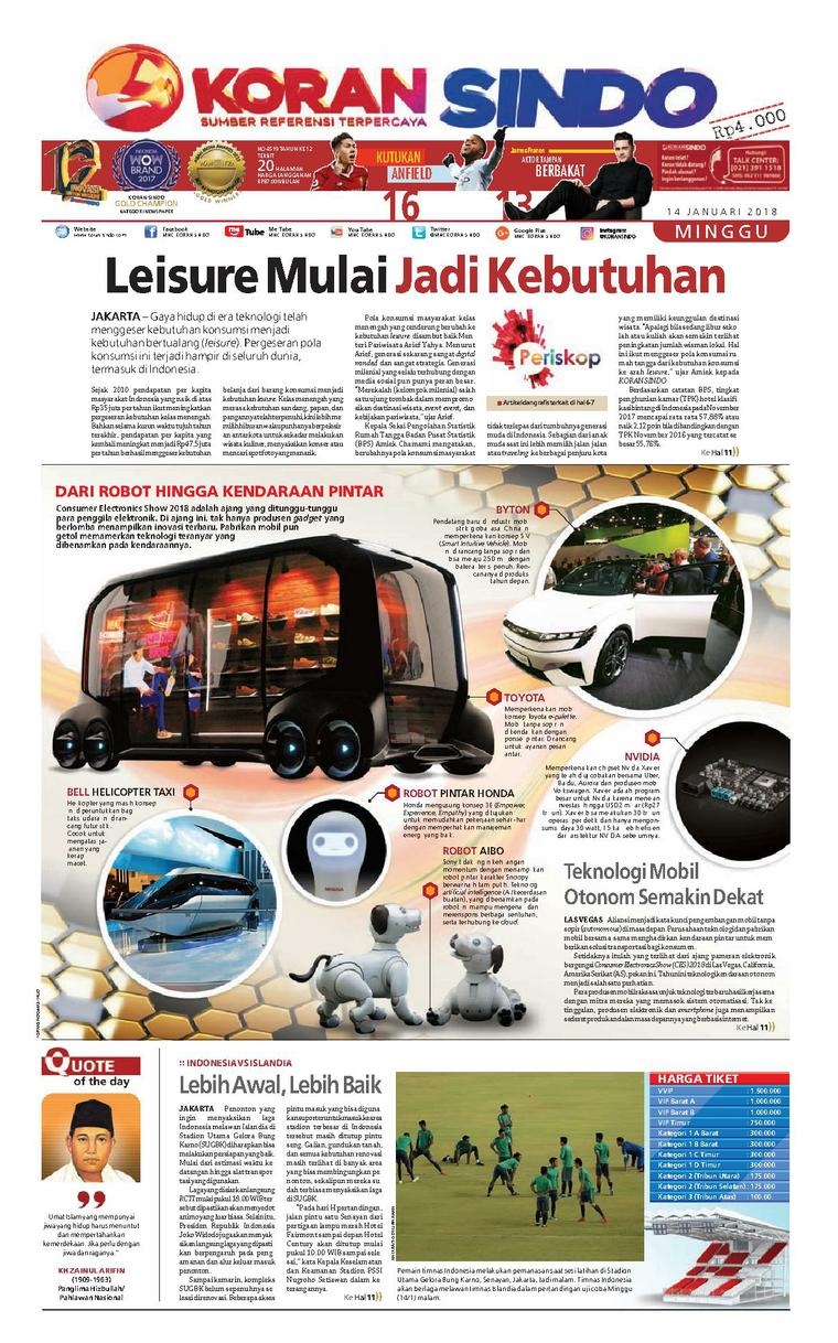 Koran Digital Koran Sindo 14 Januari 2018