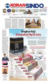 Cover Koran Sindo 13 Maret 2018