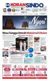 Cover Koran Sindo 16 Maret 2018