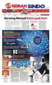 Cover Koran Sindo 18 Maret 2018