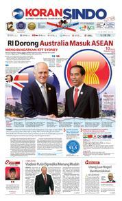 Cover Koran Sindo 19 Maret 2018