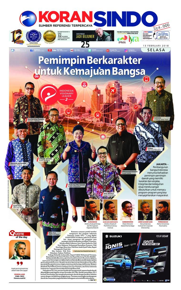 Koran Digital Koran Sindo 13 Februari 2018