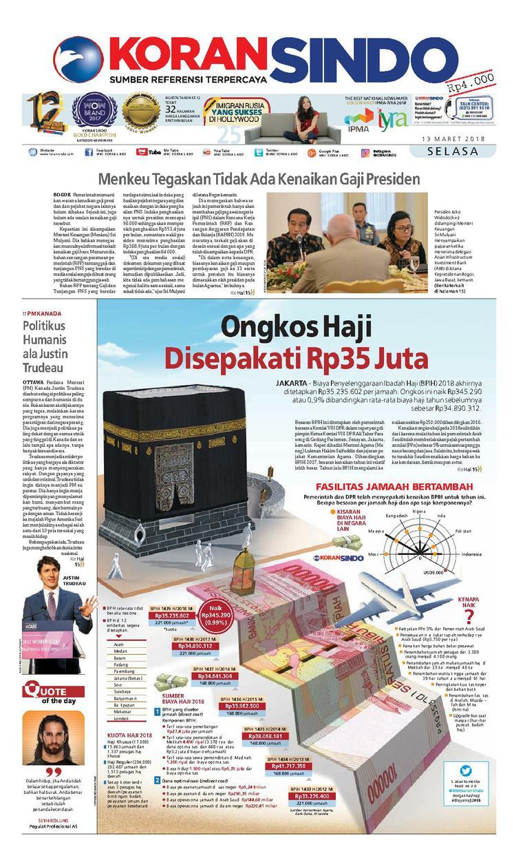 Koran Digital Koran Sindo 13 Maret 2018
