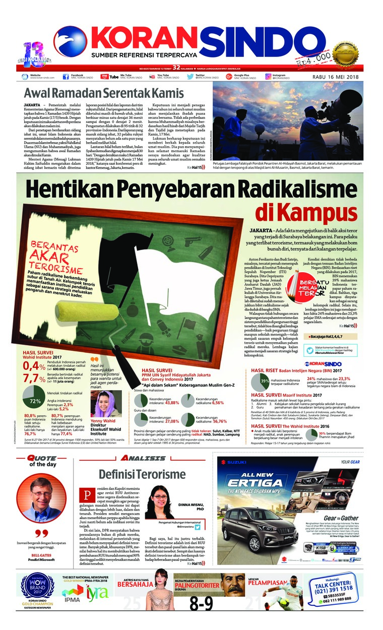 Koran Digital Koran Sindo 16 Mei 2018