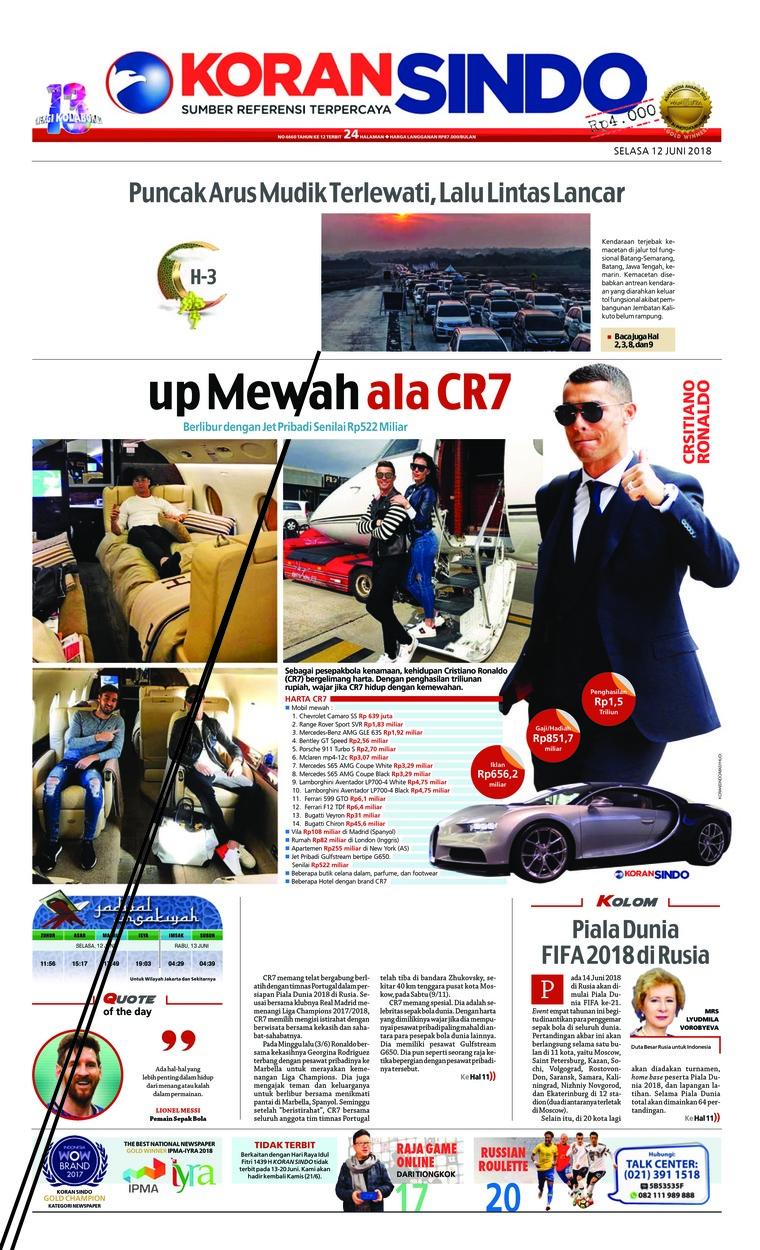 Koran Sindo Digital Newspaper 12 June 2018