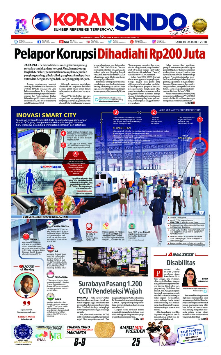Koran Digital Koran Sindo 10 Oktober 2018
