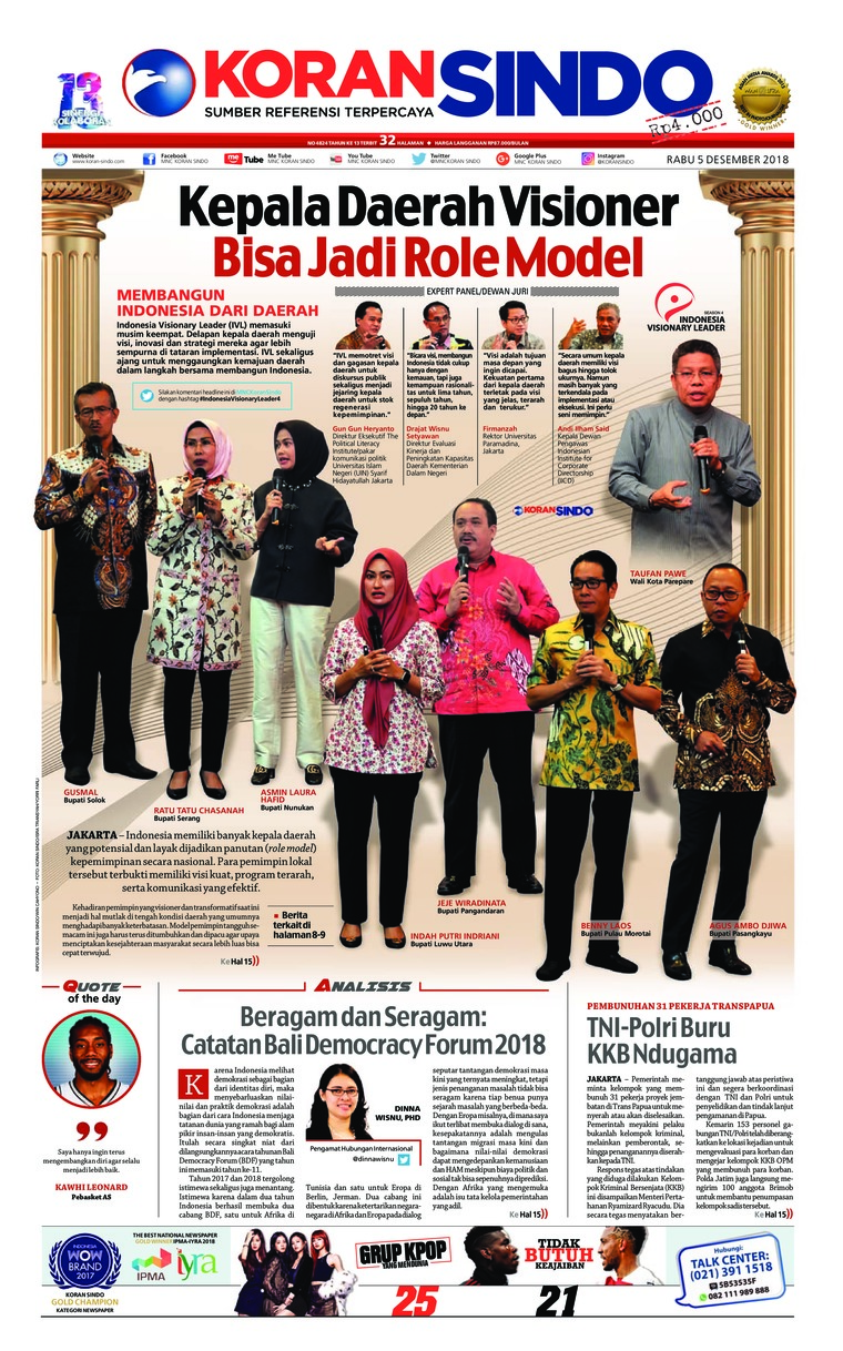 Koran Sindo Digital Newspaper 05 December 2018