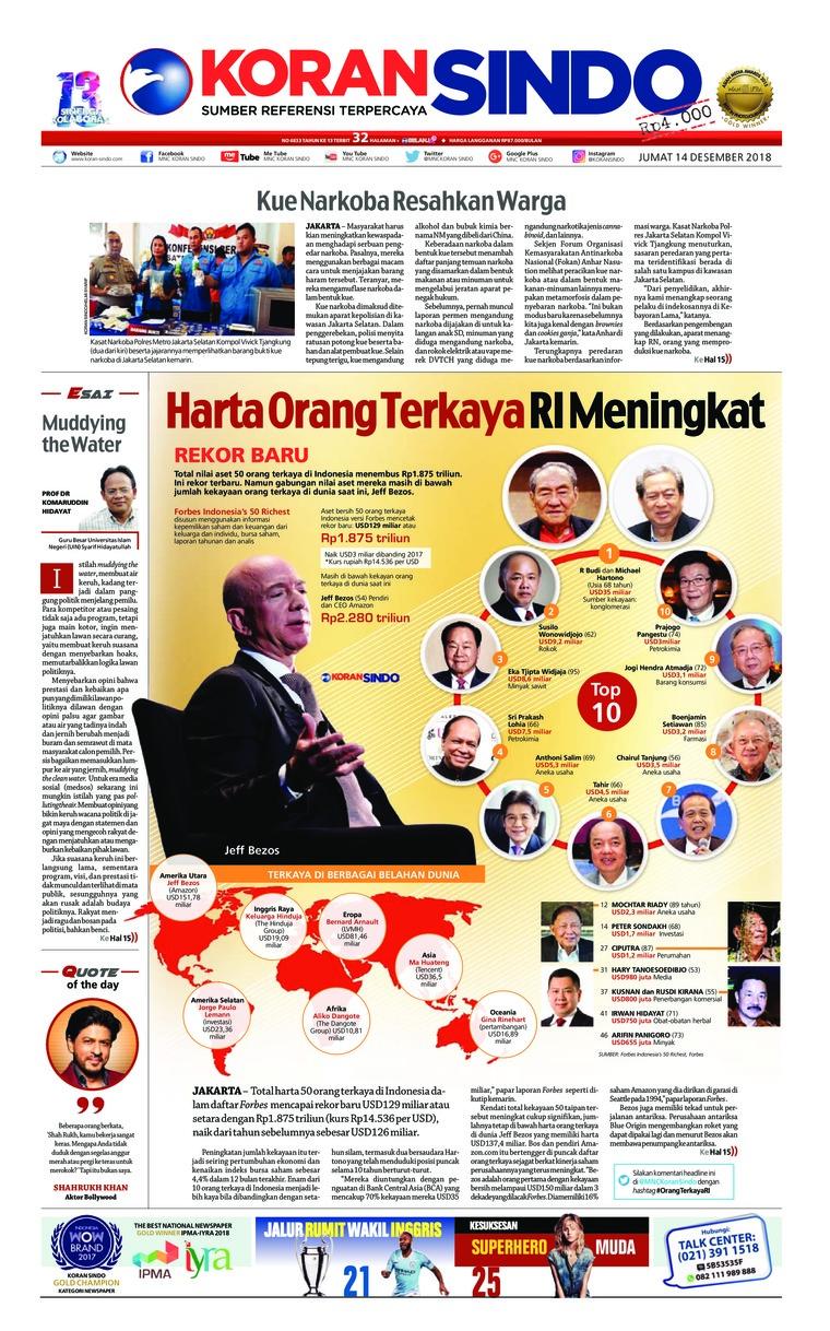 Koran Digital Koran Sindo 14 Desember 2018