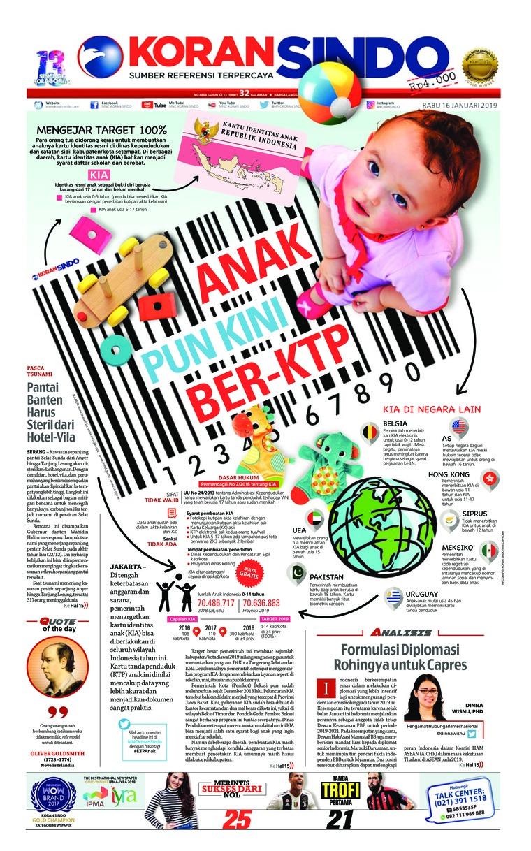 Koran Digital Koran Sindo 16 Januari 2019