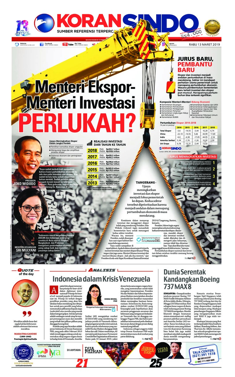 Koran Digital Koran Sindo 13 Maret 2019