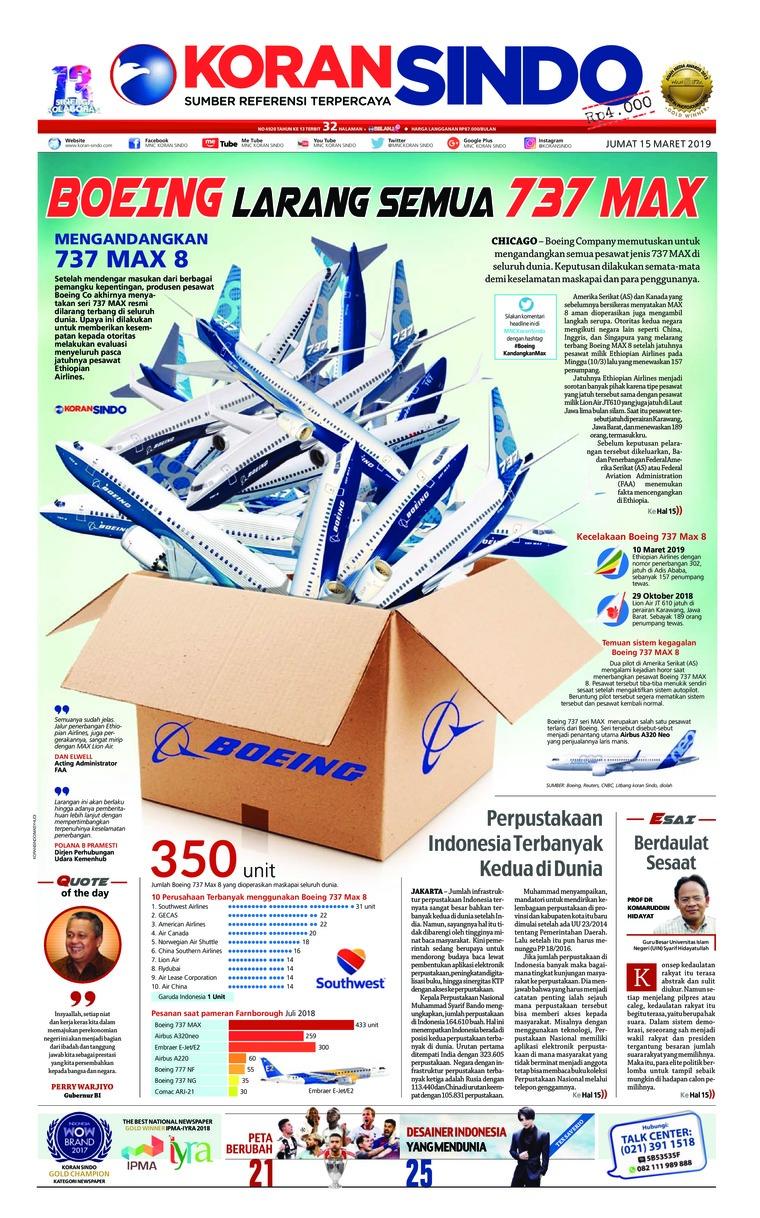 Koran Digital Koran Sindo 15 Maret 2019
