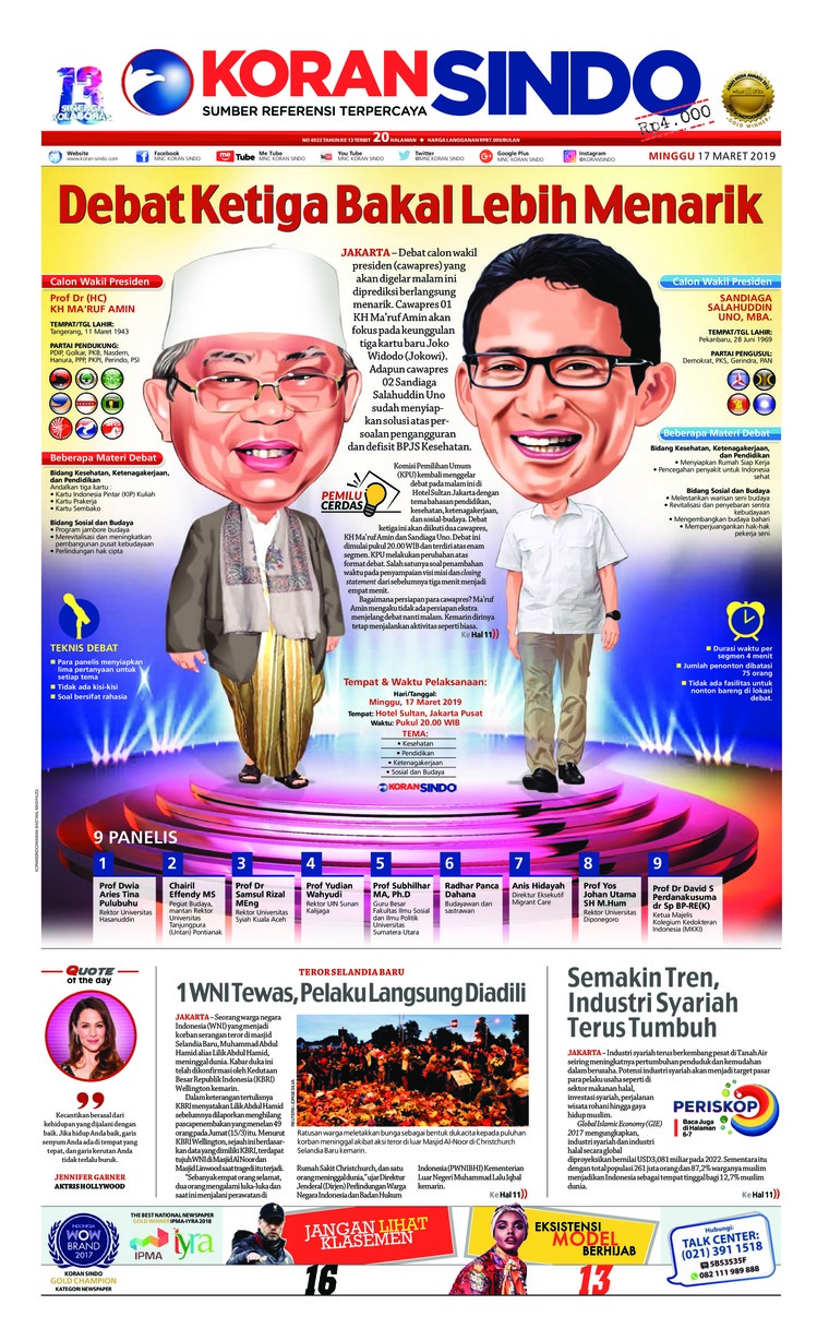 Koran Digital Koran Sindo 17 Maret 2019
