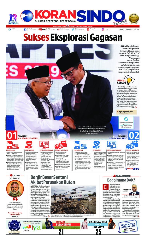 Koran Digital Koran Sindo 18 Maret 2019