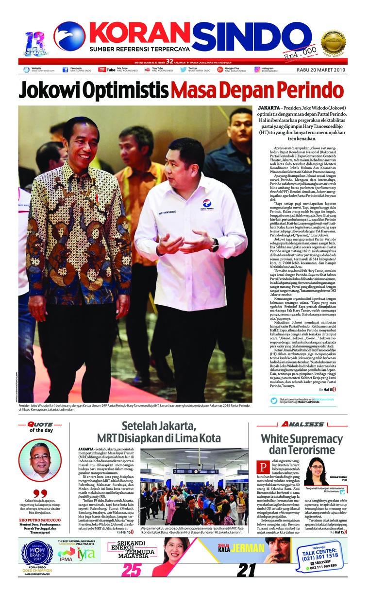 Koran Digital Koran Sindo 20 Maret 2019