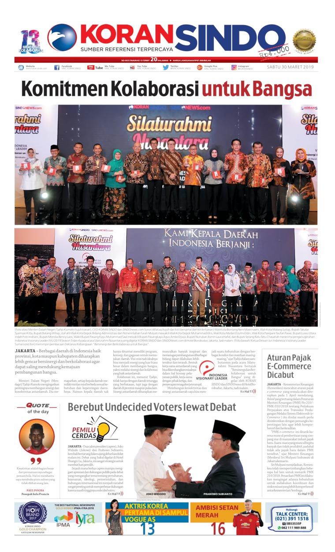 Koran Digital Koran Sindo 30 Maret 2019