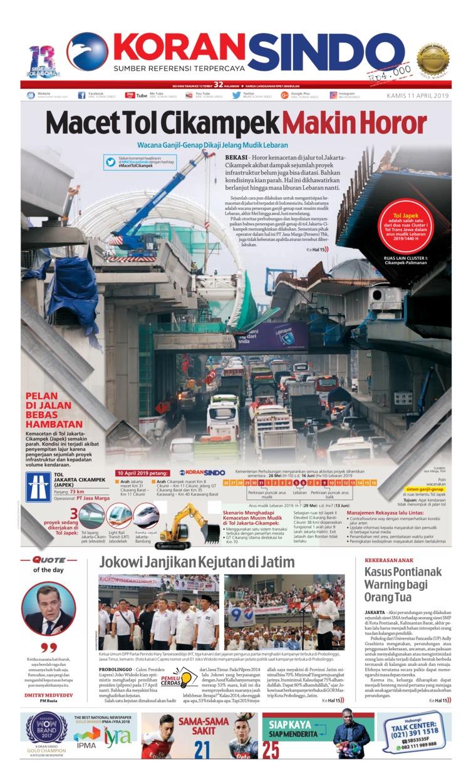 Koran Sindo Digital Newspaper 11 April 2019