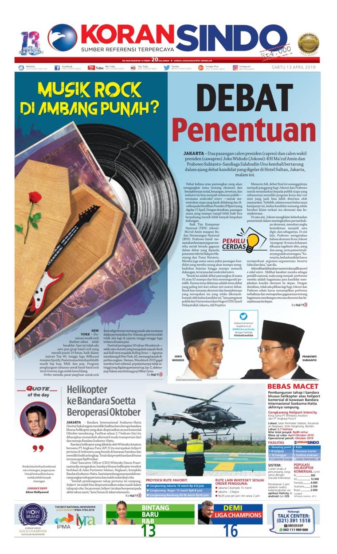 Koran Digital Koran Sindo 13 April 2019