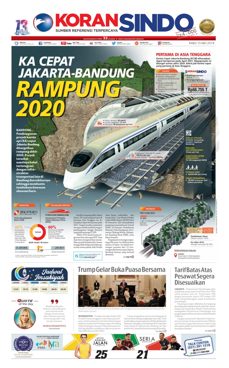 Koran Sindo Digital Newspaper 15 May 2019