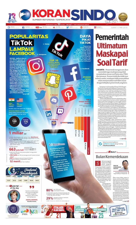 Koran Sindo Digital Newspaper 17 May 2019