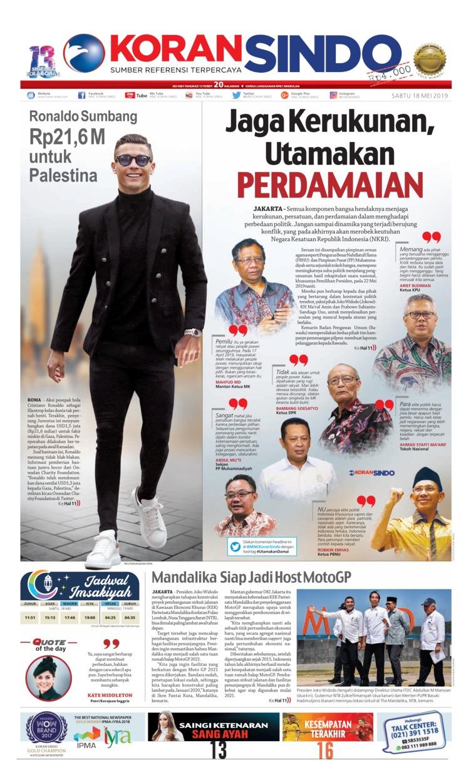 Koran Digital Koran Sindo 18 Mei 2019