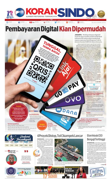 Koran Digital Koran Sindo 28 Mei 2019