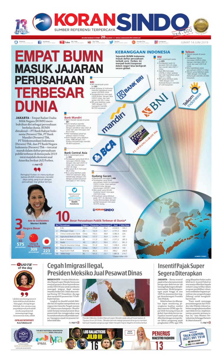 Koran Digital Koran Sindo 14 Juni 2019