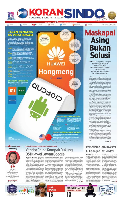 Koran Sindo Digital Newspaper 15 June 2019