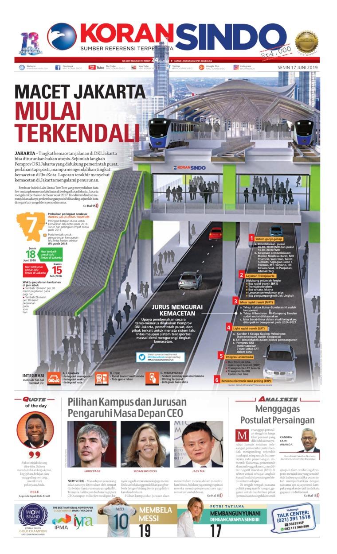 Koran Sindo Digital Newspaper 17 June 2019