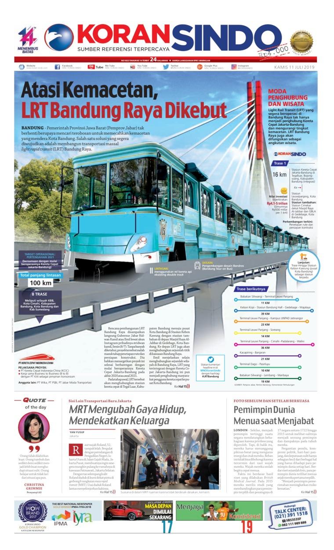 Koran Sindo Digital Newspaper 11 July 2019