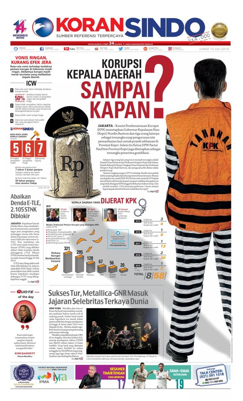Koran Sindo Digital Newspaper 12 July 2019